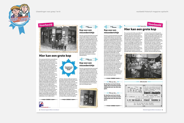 Nederlands Volksbuurtmuseum - Joop en Jopie | uitwerking groep 7 en 8